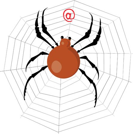 Illustration of a spider is moving towards a Stock Illustration - 2901217
