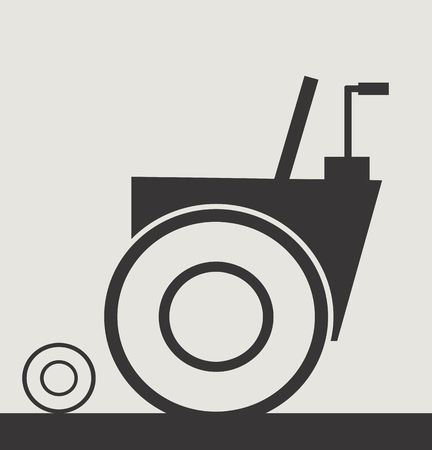 wheel chair: Illustration of a symbol of wheel chair
