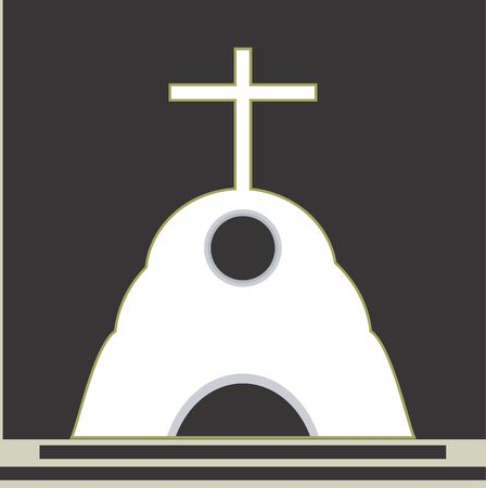 chapel: Illustration of a symbol of cross in a chapel