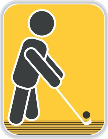 Illustration of a symbol of man playing hockey Stock Illustration - 2901183