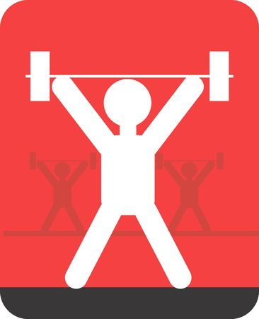Illustration of a symbol of weightlifter in sports Stock Illustration - 2901054