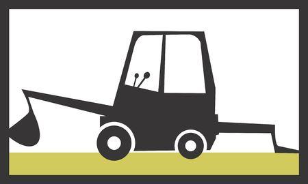 Illustration of a symbol of industrial vehicle  illustration