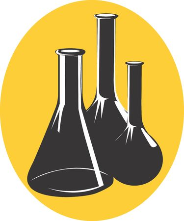 Illustration of a symbol of laboratory vessels  illustration