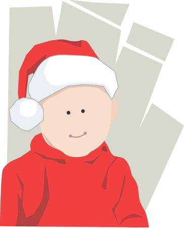 A  boy worn the Santa clause costume Stock Photo - 2912740