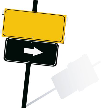 Illustration of a display board with arrow symbols  Stock Photo