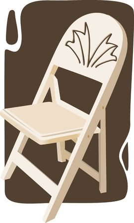 backrest: Illustration of a armless chair