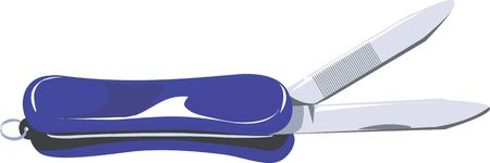 nail cutter: Illustration of a blue metal nail cutter