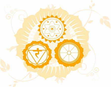 Illustration of Hindu religious symbols Stock Illustration - 2923831