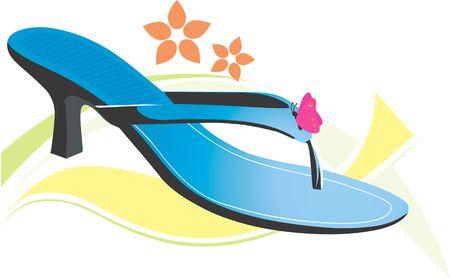 heel strap: Illustration of a ladies footwear  Stock Photo