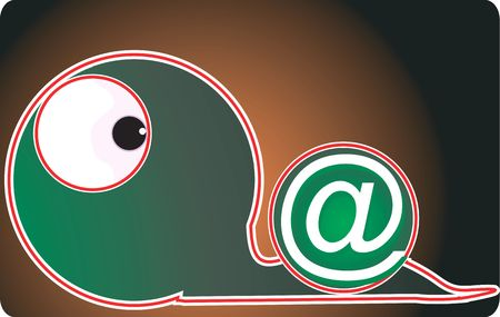 Illustration of  a snake and internet symbol  illustration