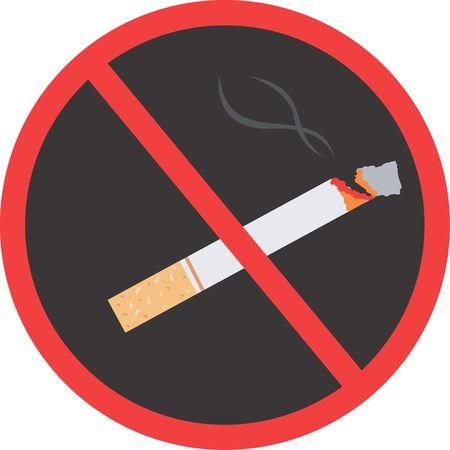 Illustration of a no smoking logo Stock Illustration - 2987431