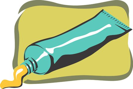 antiseptic: Illustration of a antiseptic cr�me in a tube  Stock Photo