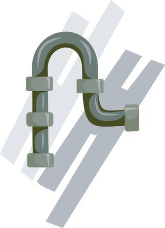 Ilustración de la tubería con juntas de agua Foto de archivo - 2994137