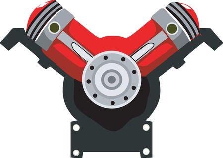 pistones: Ilustraci�n de los motores de pistones en forma de V