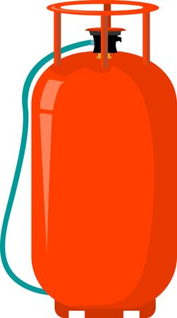 Illustration of a LPG cylinder  Stock Photo