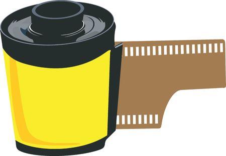 Illustration of a film roll  illustration