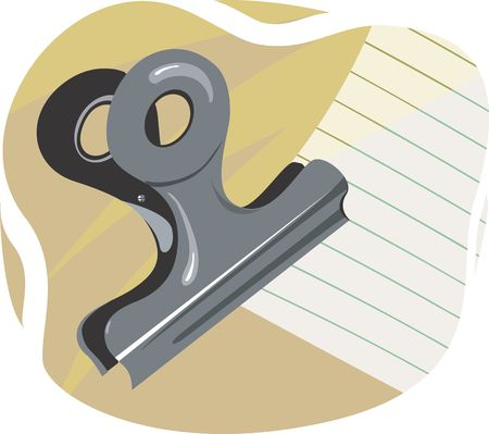 dayplanner: Illustration of clip and paper  Stock Photo