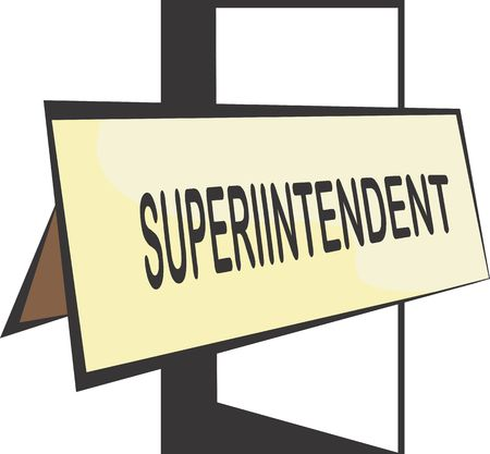 superintendent: Illustration of a board of superintendent  Stock Photo