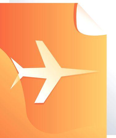 aviations: Illustration of an aero plane on yellow board