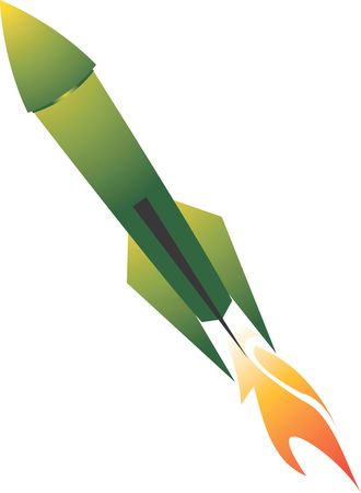 propulsion: Illustration of a rocket with fire