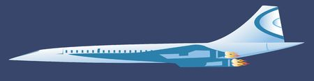 Illustration of a jet aeroplane in sky