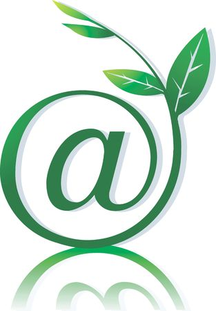 web portal: Illustration of a plant with internet symbol