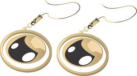 stud: Illustration of golden ear ring   Stock Photo