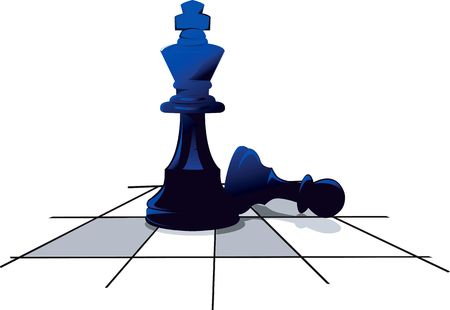 contemplating: Illustration of two pieces in a chess board