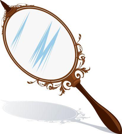 Illustration of a hand mirror