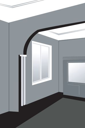 sealing: Illustration of interior of a house