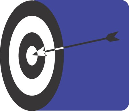Illustration of a symbol of a target  illustration