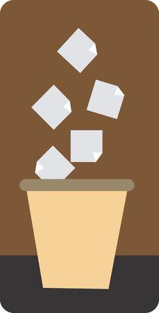 dumping: Illustration of a symbol of dumping point