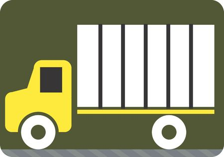 Illustration of a symbol of truck carrying luggage  illustration