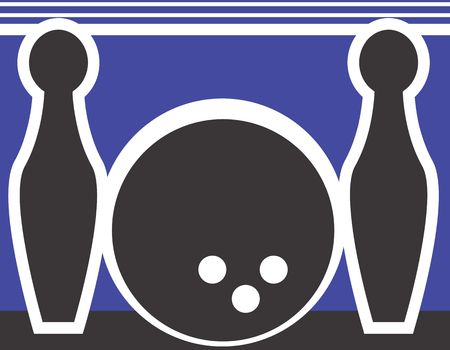 Illustration of a symbol of bowling sports  illustration