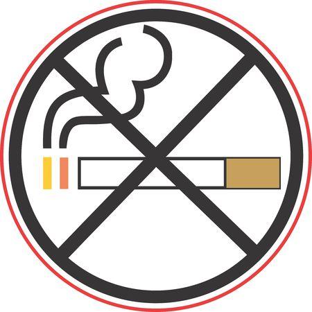 Illustration of no smoking symbol Stock Illustration - 3013125