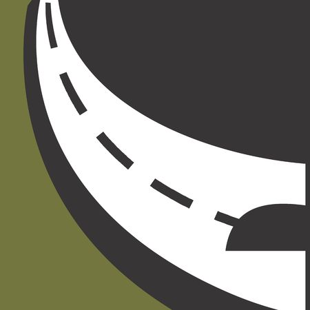 road marking: Illustration of symbol of a road with line marking  Stock Photo