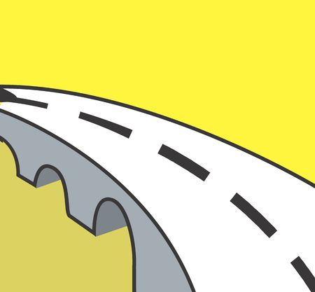 overbridge: Illustration of symbol of a road with line marking  Stock Photo
