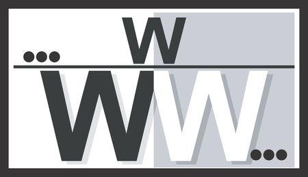 web portal: Illustration of a symbol of website letters