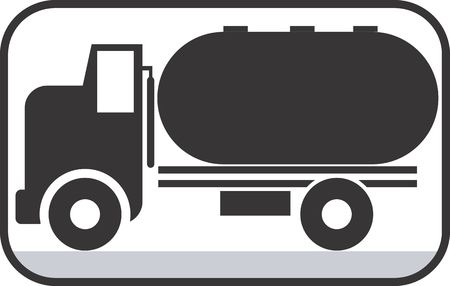 Illustration of a symbol of truck carrying fuel  illustration