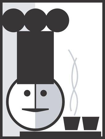 Illustration of a symbol of chef  illustration
