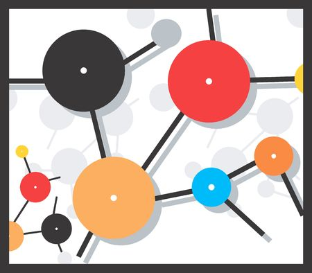 Illustration of a symbol of molecule Stock Illustration - 3013514