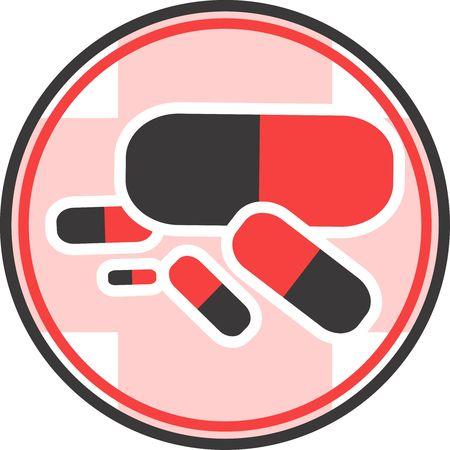 Illustration of a symbol of capsules  illustration