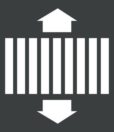 Illustration of symbol of a road with line marking  illustration