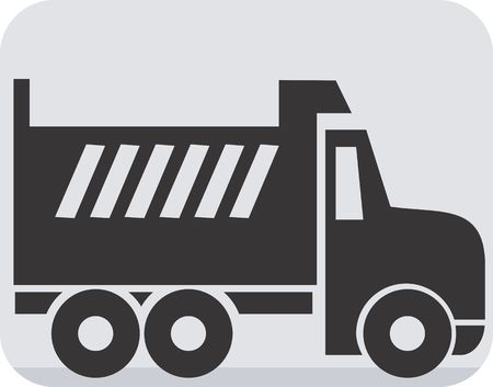 Illustration of a symbol of truck carrier  illustration
