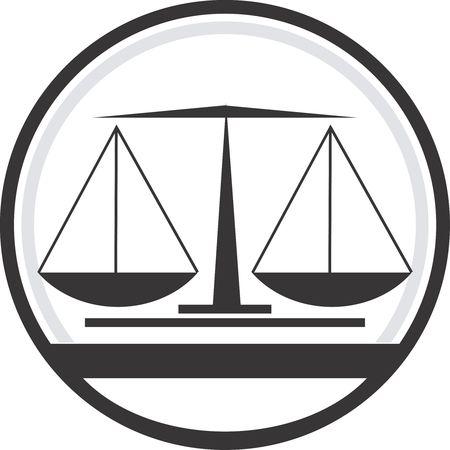 kilos: Illustration of a symbol of simple balance