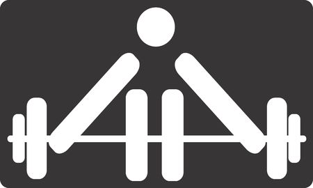 Illustration of a symbol of weightlifter in sports  illustration