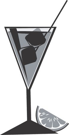 Illustration of a symbol of juice in goblet illustration