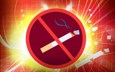 Ilustraci�n de un logotipo de no fumar  Foto de archivo - 5769934