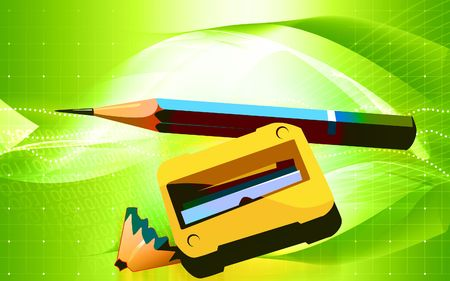 sharpened: Illustration of a cutter sharpened pencil on top