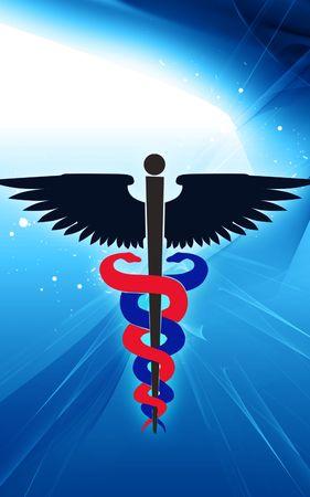 Illustration of a medical emblem  illustration
